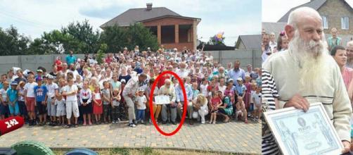 No destaque, Pavel Semenyuk, patriarca de todas as pessoas na foto (Crédito: Facebook/Lyudmila Prokopechko/CEN)