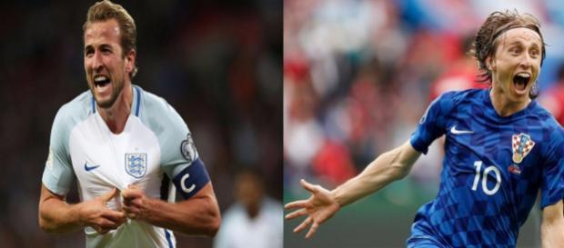 Harry Kane e Luka Modric são a esperança de Inglaterra e Croácia para chegar à final contra a França.