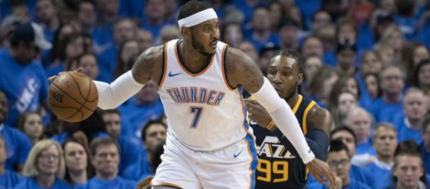 Carmelo Anthony, el alero del Thunder, podría recalar en Los Angeles Lakers (Rumores)