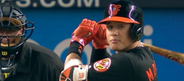 The Yankees have shown interest in a trade for the Orioles' Manny Machado, but no deal has been made yet. - [MLB / YouTube screencap]