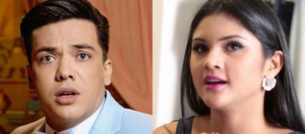 Wesley Safadão e a ex-mulher, Mileide