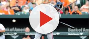 Freddie Freeman will be in the 2018 MLB Home Run Derby this Monday evening (July 16). - [USA Today Sports / YouTube screencap]