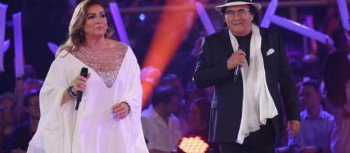 Al Bano Carrisi e Romina Power durante un concerto