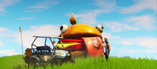 Fortnite season 5 patch adds new locations and a vehicle to the game. [image source: Fortnite/YouTube screenshot]