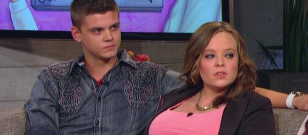 Tyler Baltierra and Catelynn Lowell appear on a 'Teen Mom' special. - [MTV / YouTube screencap]