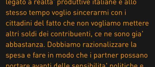 Dichiarazione di Di Maio su Alitalia