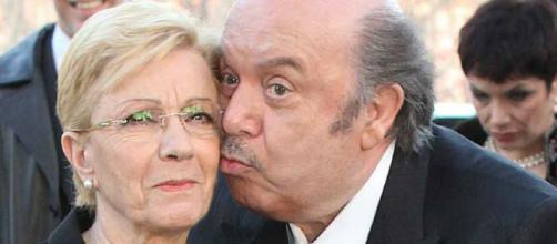 L'attore Lino Banfi con la moglie Lucia