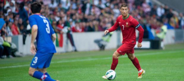 Cristiano Ronaldo na seleção de Portugal [Imagem via Wikimedia]