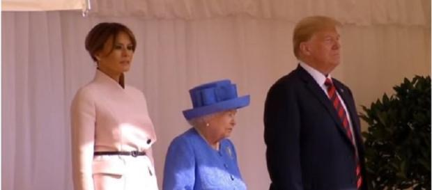 Donald Trump and Melania meet Queen Elizabeth II [Image Source: Latest World News Updates - YouTube]