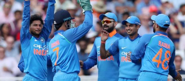 India vs England: Rohit Sharma, Kuldeep Yadav guide visitors to win ... -(Image Cr: ICC/Twitter)