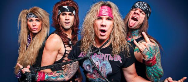 Steel Panther's misogynistic message. image credit - metalwales.com