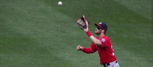 Bryce Harper has just a .214 batting average at the All-Star break. [Image Credit: Keith Allison/Flickr]