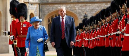 Trump y su esposa visitaron a la familia real de Inglaterra y solo los recibió la reina