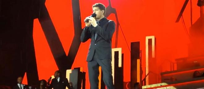 Michael Bublé in tears as he brings son Noah on stage at Hyde Park return