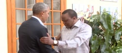 Former president Barack Obama arrived in Kenya with little fanfare on Sunday- Image credit - Daily Mail | YouTube