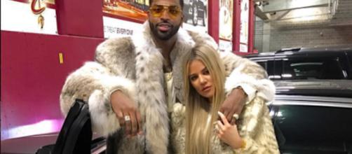Khloé Kardashian y su novio Tristan mantienen su reconciliación junto a su hija True