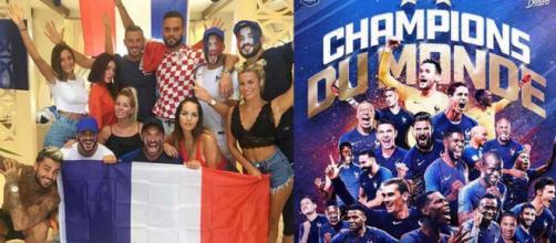 Les candidats de télé-réalité fêtent la victoire de l'équipe de France