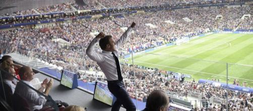 Macron celebra el triunfo de su selección en el mundial de Rusia