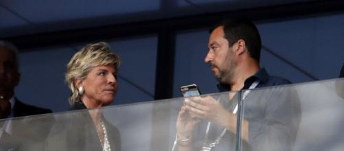 Matteo Salvini allo stadio di Mosca per la finale del Mondiale