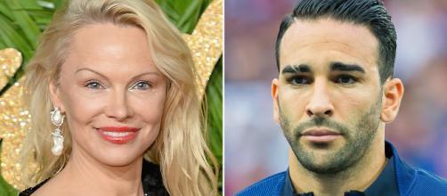 Pamela Anderson e il fidanzato Adil Rami, nazionale campione del mondo