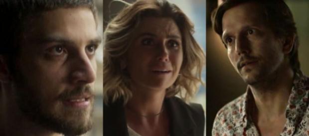 ícaro, Luzia e Remy, personagens de 'Segundo Sol'