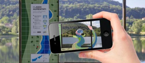 Personaggi leggendari animano i laghi di Revine Lago, Treviso, grazie alla realtà aumentata