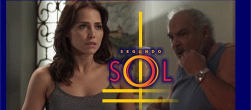 Rosa é humilhada pelo pai, em Segundo Sol.