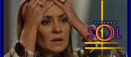 Laureta está prestes a ser desmascarada, na novela Segundo Sol. (foto reprodução)