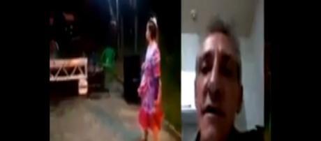 Pai grava video emocionado dizendo que sua filha foi discriminada na festa junina da sua escola (crédito: YouTube)