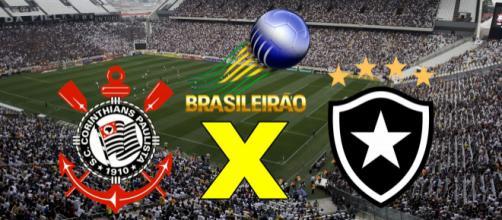 Botafogo x Corinthians nesta quarta-feira