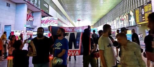 I militanti di Forza Nuova alla stazione Termini