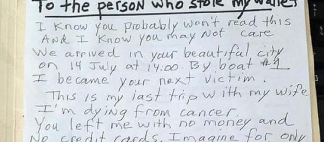 Scippato a Venezia, l'appello al ladro: 'Sono malato di cancro, era l'ultima vacanza'