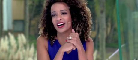 Alinne Prado na bancada do 'Vídeo Show'