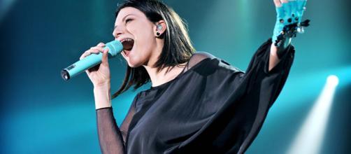 La cantante Laura Pausini durante un concerto