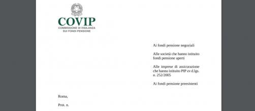 Sulle pensioni flessibili la Covip chiede ai fondi di adeguarsi alla RITA
