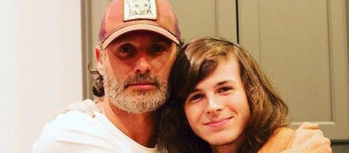 Andrew Lincoln et Chandler Riggs
