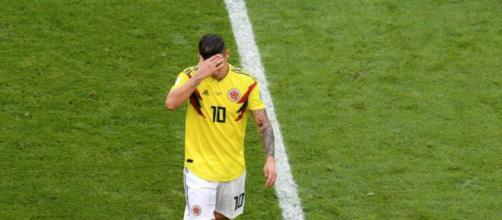James Rodriguez,il talento colombiano al momento dell'infortunio.