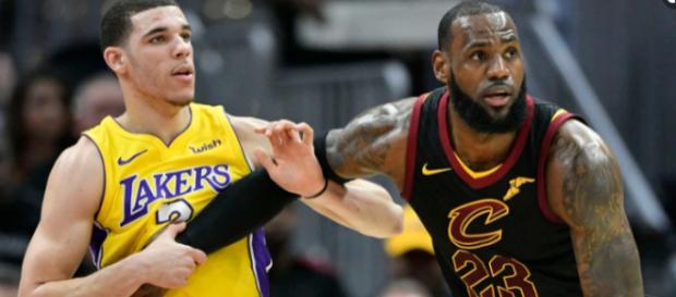 James will team up with Ball in LA. [Image via USA Today Sports/YouTube]