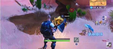 The screenshot shows the exact location of the hidden Battle Star. [Image source: Erik Kain/YouTube]