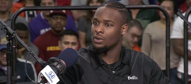 Le'Veon Bell interview. - [The Rich Eisen Show / YouTube screencap]