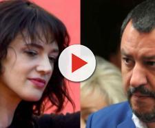 Asia Argento contro Matteo Salvini dopo la denuncia a Saviano