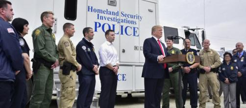 President Trump visited the Border Wall prototypes in San Diego (Image courtesy - Jetta Disco, Wikimedia Commons)
