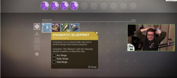 It's a blueprint for an Exotic Ship. [Image source: TheTeawrex/YouTube]