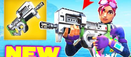 P90 is coming to 'Fortnite Battle Royale.' - [Fortnite Clips / YouTube screencap]