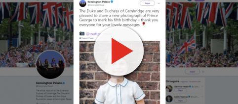 Buon compleanno, principe George. Il tweet di Kensington Palace.