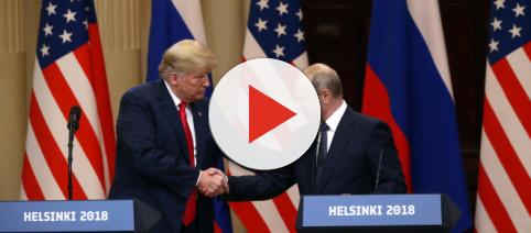 Trump shakes hands with Putin. - [Fox News / YouTube screencap]