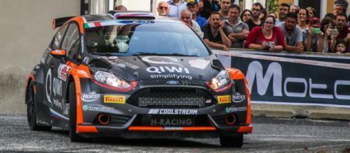 La Fiesta R5 di Lukyanuk centra il gradino più alto del podio nella gara romana