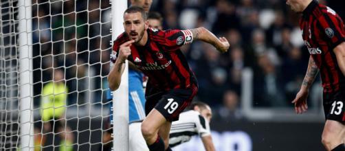L'esultanza di Bonucci all'Allianz Stadium