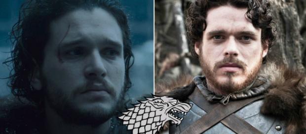 Jon Snow e seu irmão Robb Stark
