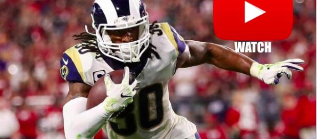 Todd Gurley with the Los Angeles Rams. - [BeastModeHighlights channel / YouTube screencap]